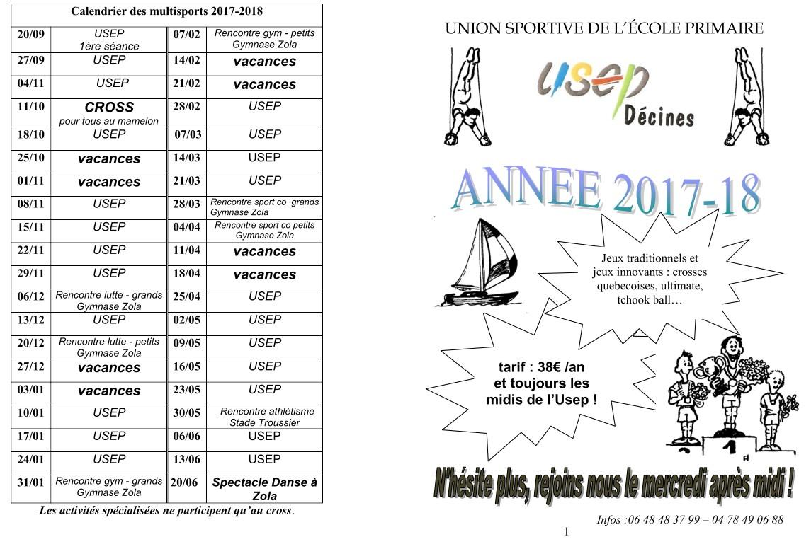 Dates des rencontres USEP
